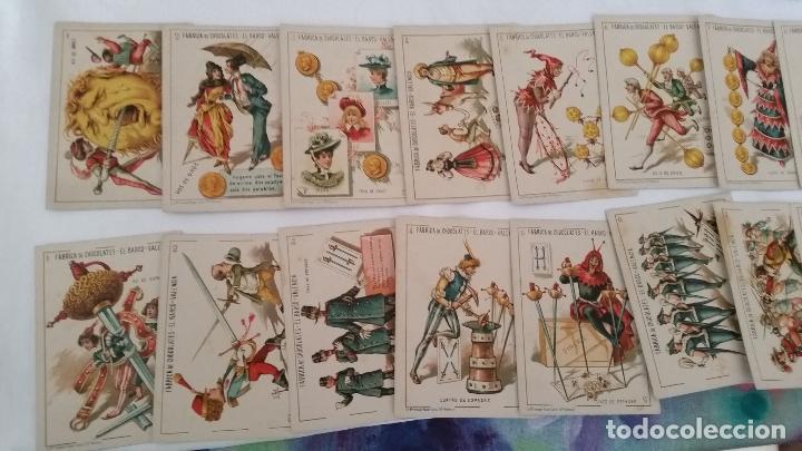 Barajas de cartas: BARAJA NAIPES CHOCOLATES EL BARCO LA GRANDE COMPLETA MUY BUEN ESTADO AÑO 1888 ORIGINAL - Foto 4 - 116254195