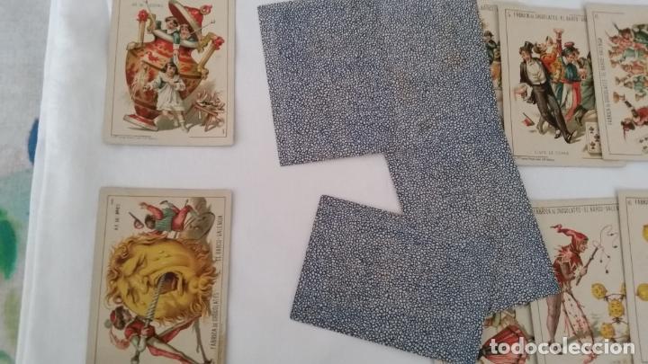 Barajas de cartas: BARAJA NAIPES CHOCOLATES EL BARCO LA GRANDE COMPLETA MUY BUEN ESTADO AÑO 1888 ORIGINAL - Foto 6 - 116254195