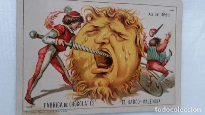 Barajas de cartas: BARAJA NAIPES CHOCOLATES EL BARCO LA GRANDE COMPLETA MUY BUEN ESTADO AÑO 1888 ORIGINAL - Foto 7 - 116254195