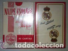 A ESTRENAR-BARAJA ESPAÑOLA *CLUB FUTBOL REAL MADRID* (H. FOURNIER) Nº 1 CUARENTA CARTAS (Juguetes y Juegos - Cartas y Naipes - Baraja Española)