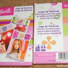 Barajas de cartas: BARBIE - BARAJA DE CARTAS SIN USO - PERFECTA - JUEGO DE FAMILIAS. Lote 116436839