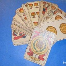 Barajas de cartas: ANTIGUA BARAJA ESPAÑOLA - S.XIX B.P. GRIMAUD PARIS INCOMPLETA 36 CARTAS DIFERENTES + 23 CARTAS REPET. Lote 116471519