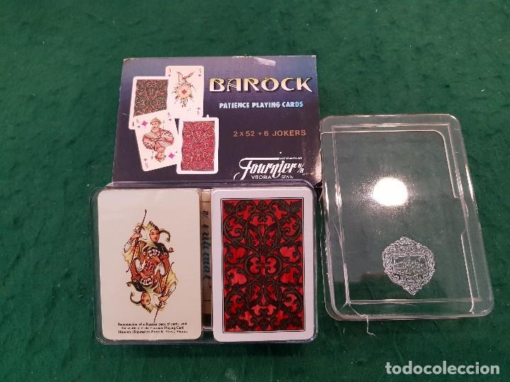 BARAJA NAIPES SOLITARIOS MINI BAROCK 2 X 52 + 6 JOKERS - HERACLIO FOURNIER (Juguetes y Juegos - Cartas y Naipes - Barajas de Póker)