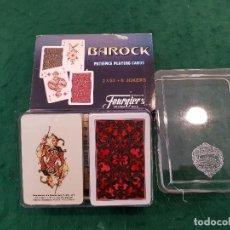Barajas de cartas: BARAJA NAIPES SOLITARIOS MINI BAROCK 2 X 52 + 6 JOKERS - HERACLIO FOURNIER. Lote 116472835