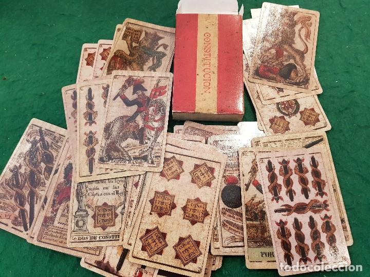 BARAJA ESPAÑOLA - CONSTITUCIÓN DE CADIZ. ESPAÑA, SIGLO XIX (1822) (Juguetes y Juegos - Cartas y Naipes - Baraja Española)