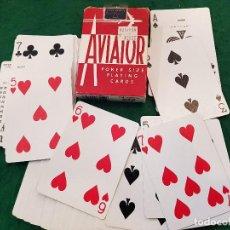Barajas de cartas: BARAJA POKER AVIADOR MADE IN USA. Lote 116473379