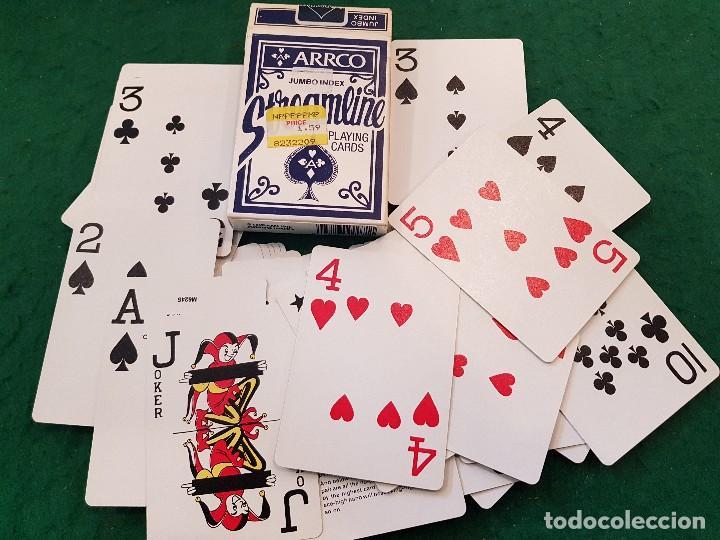 BARAJA POKER JUMBO INDEX STREAMLINE - ARRCO (Juguetes y Juegos - Cartas y Naipes - Barajas de Póker)