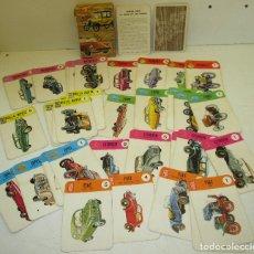Barajas de cartas: BARAJA CARTAS, NAIPES, EDICIONES RECREATIVAS 1971, EL JUEGO DE LOS COCHES, FIAT, RENAULT, FORD,.... Lote 116633384