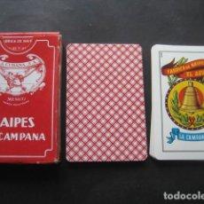 Barajas de cartas: BARAJA ESPAÑOLA LA CAMPANA. NAIPES EL AGUILA. LA CUBANA S.A. MEXICO. Lote 116855799