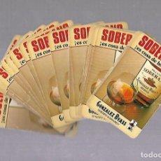 Barajas de cartas: BARAJA DE CARTAS. ESPAÑOLA. PUBLICIDAD BRANDY SOBERANO. COMPLETA. VER FOTOS. Lote 117194411