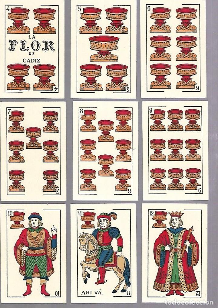 Barajas de cartas: BARAJA DE CARTAS. ESPAÑOLA. NAIPES FINOS LA FLOR DE CADIZ. BARCELONA. COMPLETA. MUY BUEN ESTADO. VER - Foto 5 - 117264519