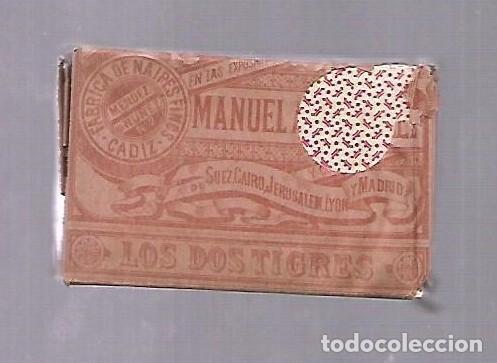 Barajas de cartas: BARAJA DE CARTAS. MANUEL ANICETO GONZALEZ. LOS DOS TIGRES. 1905. CADIZ. SIN ABRIR. VER - Foto 2 - 117264691
