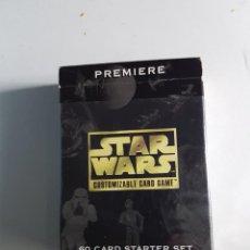 Barajas de cartas: BARAJA STAR WARS 60 CARTAS CUSTOMIZABLE CARD GAME. Lote 117622875