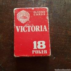 Barajas de cartas: BARAJA NAIPES. VICTORIA 18 POKER. HERACLIO FOURNIER.. Lote 117882426