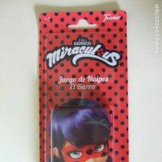 Barajas de cartas: BARAJA MIRACULOUS LADYBUG PRODIGIOSA LADY BUG - JUEGO DE NAIPES EL BURRO - CARTAS FOURNIER. Lote 117986859