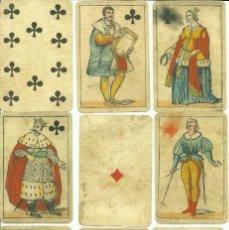Barajas de cartas: ANTIGUA BARAJA FIORENTINA ADAMI - ITALIA SIGLO XIX (1850) - NUEVA - CERTIFICADO COLECCION FOURNIER. Lote 118097479