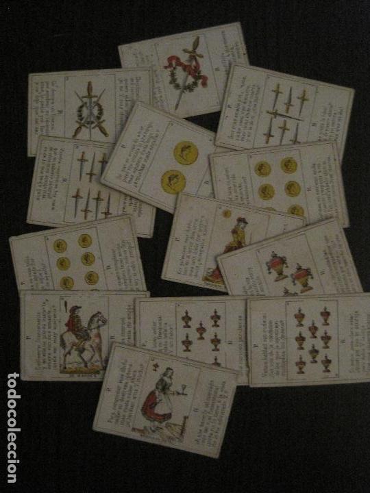 LOTE 13 CARTAS - PREGUNTAS Y RESPUESTAS - MUY ANTIGUAS -VER FOTOS(V-14.172) (Juguetes y Juegos - Cartas y Naipes - Otras Barajas)