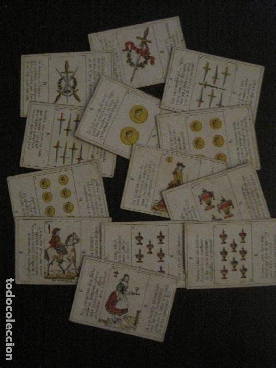 Barajas de cartas: LOTE 13 CARTAS - PREGUNTAS Y RESPUESTAS - MUY ANTIGUAS -VER FOTOS(V-14.172) - Foto 2 - 118175775