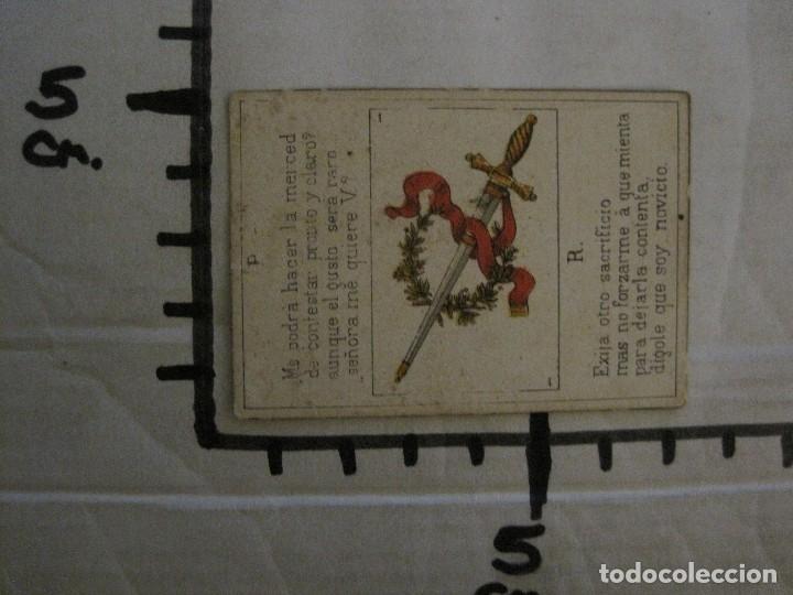 Barajas de cartas: LOTE 13 CARTAS - PREGUNTAS Y RESPUESTAS - MUY ANTIGUAS -VER FOTOS(V-14.172) - Foto 14 - 118175775