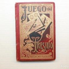 Barajas de cartas: MANUAL PARA EL JUEGO DEL TRESILLO, SATURNINO CALLEJA, MADRID, 1902, 10X7 CM. Lote 118432899