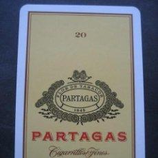 Barajas de cartas: CARTA DE BARAJA UNITARIA. PUBLICIDAD TABACOS CIGARRILLOS PARTAGAS. Lote 118626795