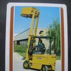 Barajas de cartas: CARTA DE BARAJA UNITARIA. PUBLICIDAD CARRETILLAS FINANZAUTO CATERPILLAR. Lote 118626851
