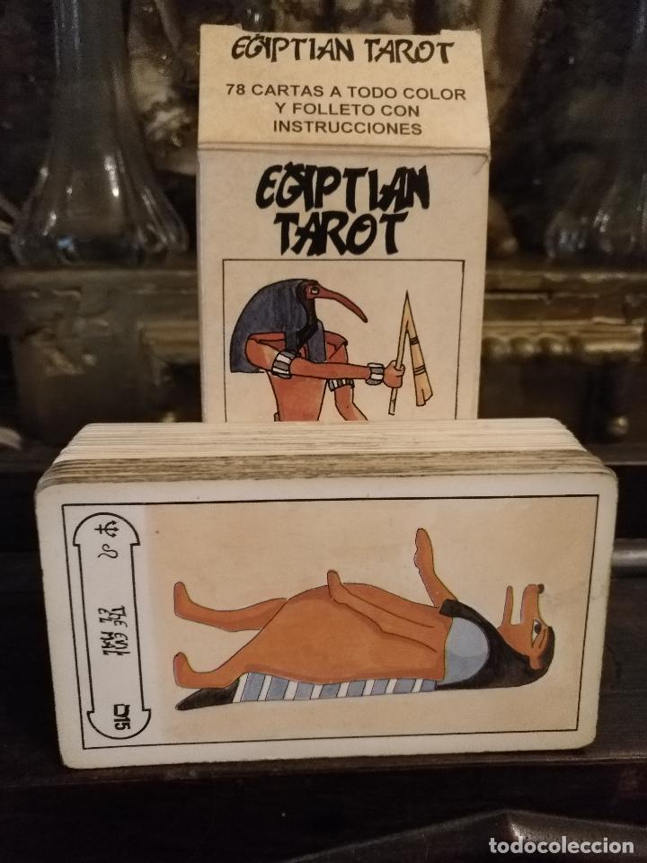 Barajas de cartas: BARAJA DE CARTAS DE TAROT 78 naipes completo. FOURNIER. EL TAROT EGIPCIO. EGIPTO. EGIPTIAN. - Foto 3 - 118651331