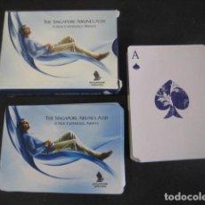 Jeux de cartes: BARAJA POKER. PUBLICIDAD AEROLINEAS SINGAPUR, AIRLINES SINGAPORE A330. Lote 118664699