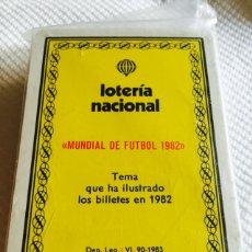 Barajas de cartas: BARAJA DE LA LOTERÍA MUNDIAL DE FÚTBOL 1982 NUEVA. Lote 118697906