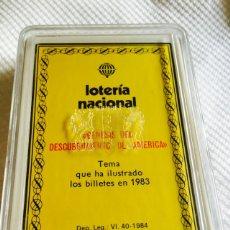 Barajas de cartas: BARAJA DE LA LOTERÍA NACIONAL GÉNESIS DEL DESCUBRIMIENTO DEL NUEVO MUNDO 1983 NUEVA. Lote 118698050