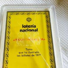 Barajas de cartas: BARAJA DE LA LOTERÍA NACIONAL TAUROMAQUIA 1971 NUEVA. Lote 118698199