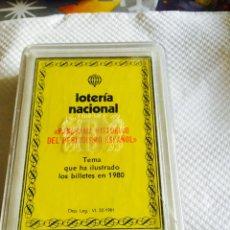 Barajas de cartas: BARAJA DE LA LOTERÍA NACIONAL PANORAMA HISTÓRICO DEL PERIODISMO ESPAÑOL 1980. Lote 118698344