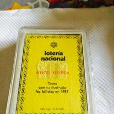 Barajas de cartas: BARAJA DE LA LOTERÍA TEATRO ESPAÑOL 1981 NUEVA. Lote 118698472