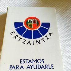 Barajas de cartas: BARAJA DE LA ERTZAINTZA. Lote 118698976