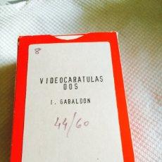 Barajas de cartas: LOTE DE 2 BARAJAS VIDEO-CARÁTULAS VOL 1 Y 2 I.GABALDON. Lote 118699908