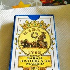 Barajas de cartas: BARAJA HISTÓRICA DE MADRID. Lote 118700315