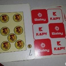 Barajas de cartas: BARAJA FOURNIER PUBLICIDAD BALAY. Lote 118794346