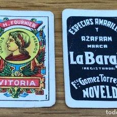 Barajas de cartas: BARAJA FOURNIER MINIATURA - LILIPUT - ESPECIAS AMARILLAS Y AZAFRÁN LA BARAJA (NOVELDA - ALICANTE). Lote 118829363