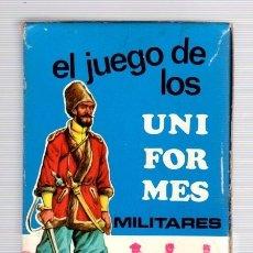 Barajas de cartas: BARAJA DE CARTAS EL JUEGO DE LOS UNIFORMES MILITARES. 42 CARTAS. COMPLETA.. Lote 119086003