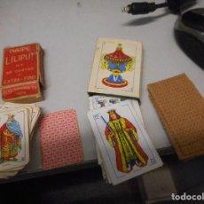 Barajas de cartas: DOS JUEGOS BARAJAS MINI FOURNIER Y OTRA. Lote 119474487