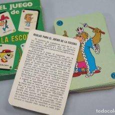 Barajas de cartas: BARAJA. EL JUEGO DE LA ESCOBA. EDICIONES RECREATIVAS. COMPLETA. Lote 119476255