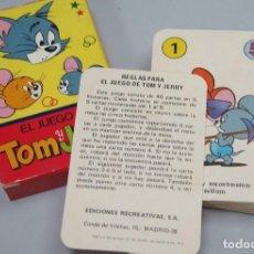 Barajas de cartas: BARAJA. EL JUEGO DE TOM Y JERRY. EDICIONES RECREATIVAS. COMPLETA. Lote 119476443