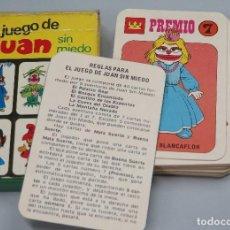 Barajas de cartas: BARAJA. EL JUEGO DE JUAN SIN MIEDO. EDICIONES RECREATIVAS. COMPLETA. Lote 119477047