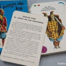 Barajas de cartas: BARAJA. EL JUEGO DE LOS UNIFORMES. EDICIONES RECREATIVAS. COMPLETA. Lote 119478119