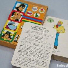 Barajas de cartas: BARAJA. EL JUEGO DEL ATAQUE. HEROES DE LA TELE. EDICIONES RECREATIVAS. COMPLETA. Lote 119478519