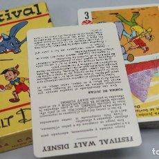 Barajas de cartas: BARAJA. FESTIVAL WALT DISNEY. COMPLETA. Lote 173894823