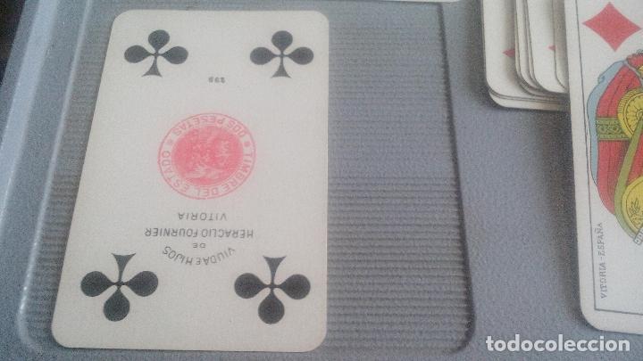 Barajas de cartas: BARAJA HERACLIO FOURNIER - WHIST - 52 CARTAS - NAIPE OPACO DE UNA SOLA HOJA - EN EXCELENTE ESTADO. - Foto 2 - 119605919