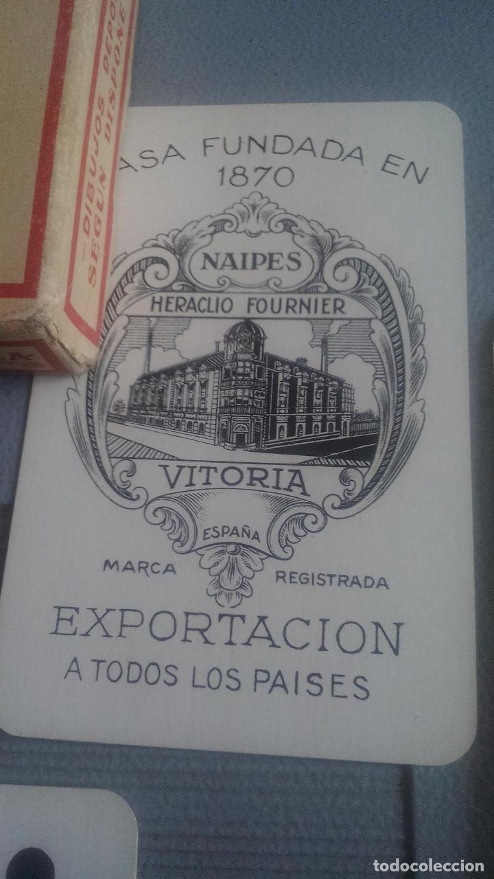 Barajas de cartas: BARAJA HERACLIO FOURNIER - WHIST - 52 CARTAS - NAIPE OPACO DE UNA SOLA HOJA - EN EXCELENTE ESTADO. - Foto 3 - 119605919