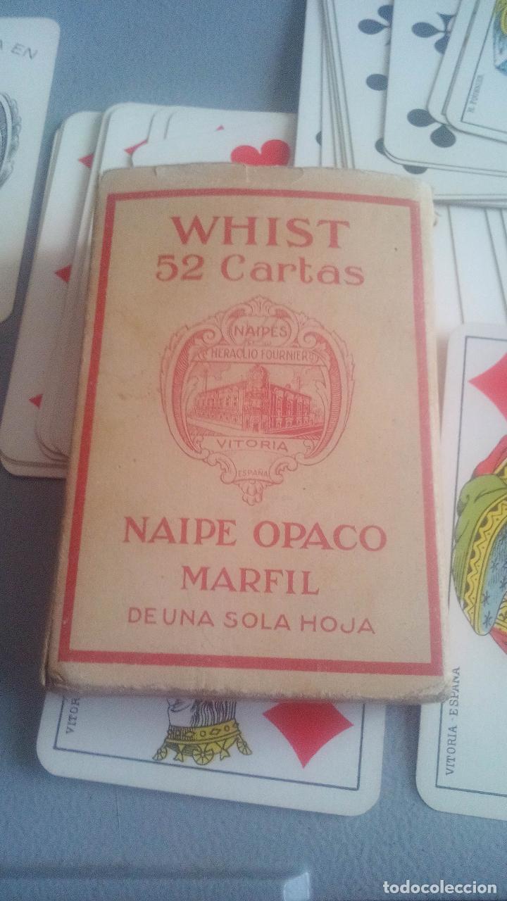 Barajas de cartas: BARAJA HERACLIO FOURNIER - WHIST - 52 CARTAS - NAIPE OPACO DE UNA SOLA HOJA - EN EXCELENTE ESTADO. - Foto 4 - 119605919