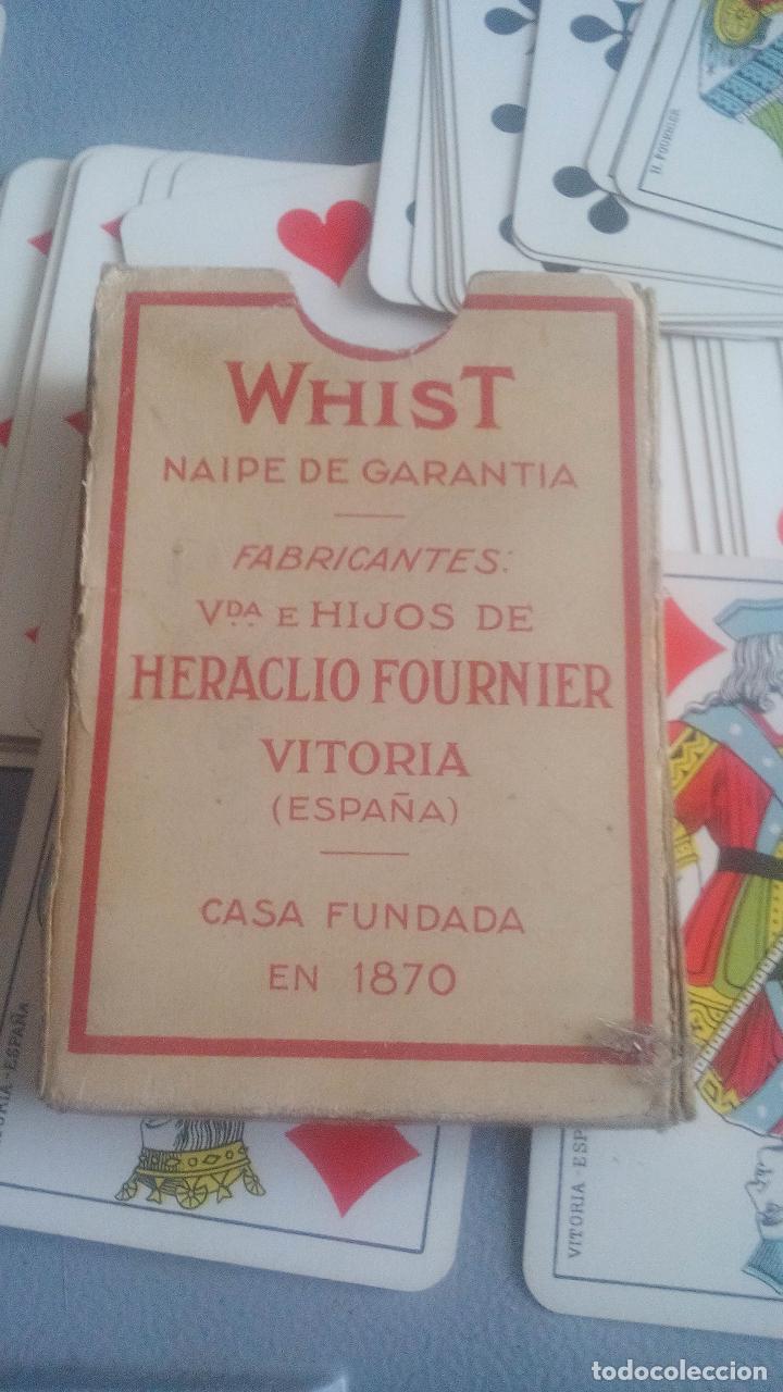 Barajas de cartas: BARAJA HERACLIO FOURNIER - WHIST - 52 CARTAS - NAIPE OPACO DE UNA SOLA HOJA - EN EXCELENTE ESTADO. - Foto 5 - 119605919